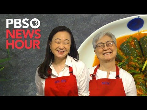How to make cucumber kimchi using Min Jin Lee's family recipe