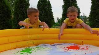 Целый бассейн Слайма Дети сами Сделали Слайм. Мама и Папа в Шоке!