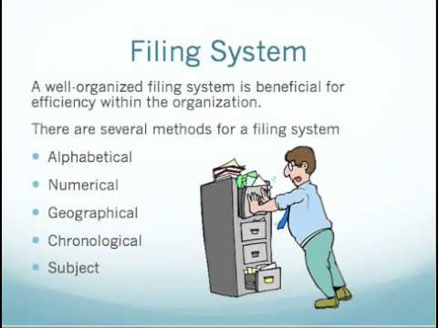 Bookkeeping And Filing System