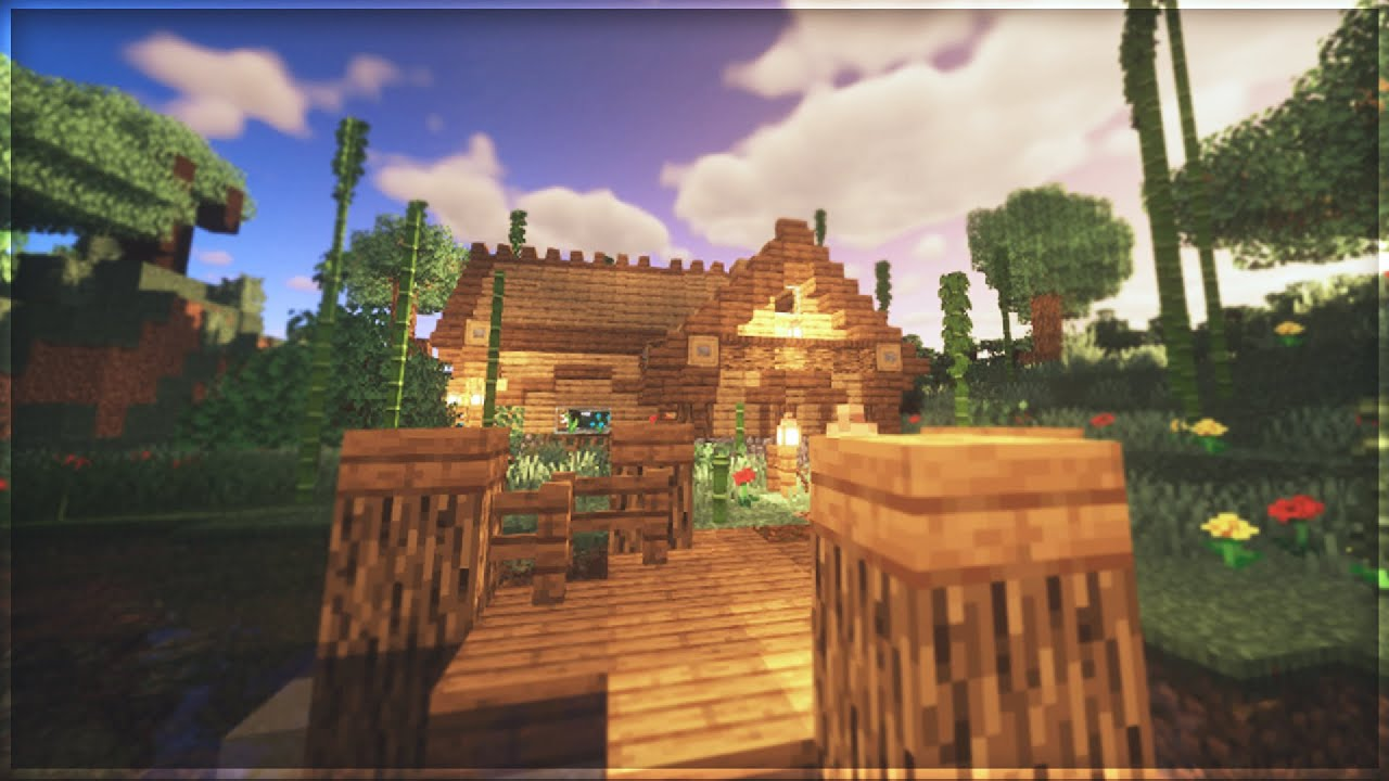 Minecraft: How to build a Log Cabin   Tutorial + Timelapse