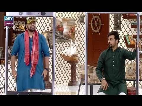 """Faysal Qureshi, Yasir Shoro,Suzain Fatima, Aadi & Natasha Ali playing """"Video Calling"""""""
