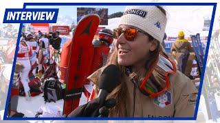 Sofia Goggia dopo la vittoria in SG a St. Moritz