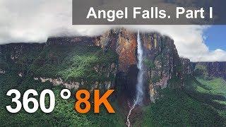 360°, Angel Falls, Venezuela. Part I. Aerial 8K video thumbnail