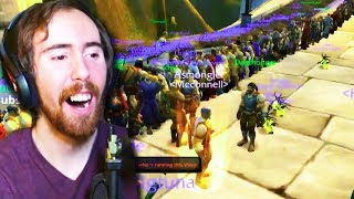 Asmongold Forms a HUGE Guild & HUNTS McConnell (Classic WoW Beta Stress Test)
