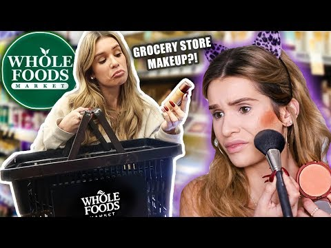 FULL FACE testing WHOLE FOODS MAKEUP! ...is it any good??