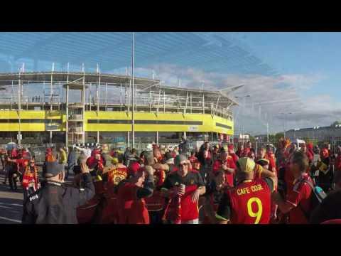 Estonia 0 - Belgium 2 (2017): Atmosphere Belgian Supporters