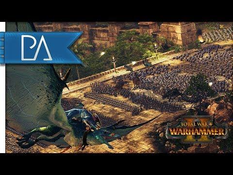 Total War: WARHAMMER 2 Gameplay - Lizardmen vs High Elves