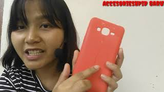 CASE AUTOFOKUS MOTIF LEATHER SAMSUNG J2 PRIME SOFTCASE MERAH