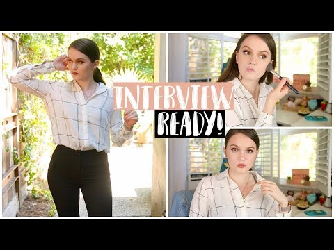 Getting Ready For An Interview | Makeup, Hair, & Outfit