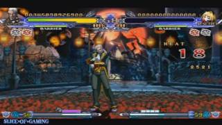 Slice of Gaming - BlazBlue: Continuum Shift II (PSP) Valkenhayn Arcade Run (Full)