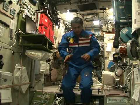 "Dr. Sheikh Muszaphar Shukor Praying in outer space (from ""Muslim in Space"" DVD)"