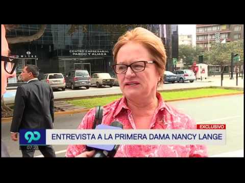 Entrevista a primera dama Nancy Lange