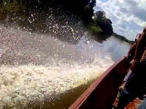 Paseando por los ríos de apure, en motor fuera de borda yamaha
