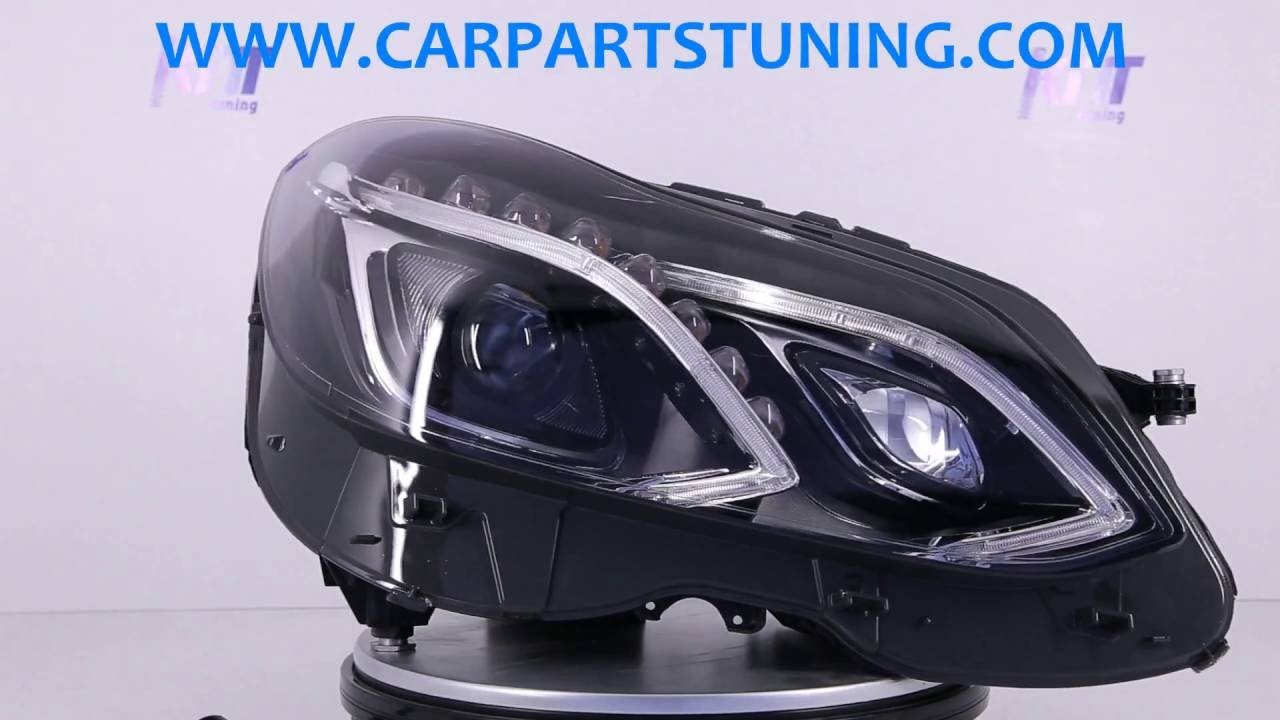 headlights mercedes benz w212 e-class (2013-2016) led xenon