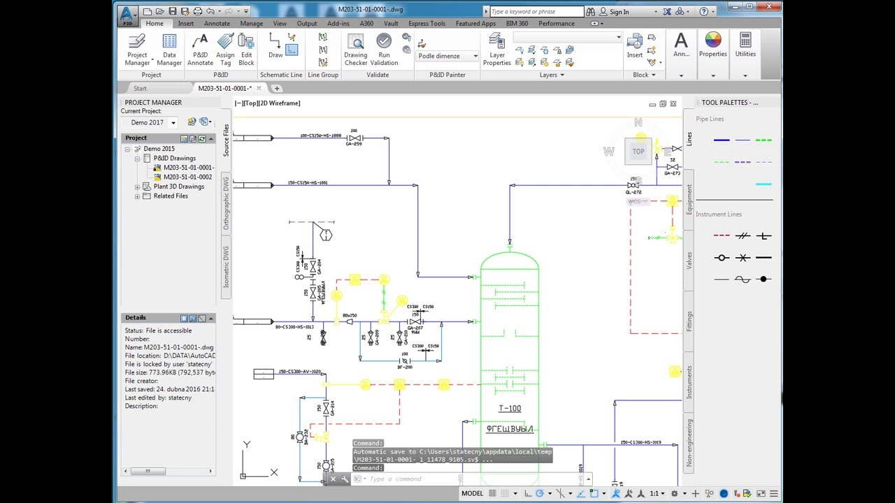 Process Flow Diagram Autocad - Schematics Online