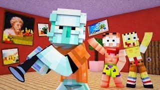 Спанч Боб мешает Играть на Флейте в Майнкрафт — Minecraft Мультик