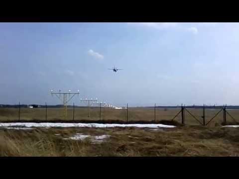 Small plane Landing at Šiauliai City Airport