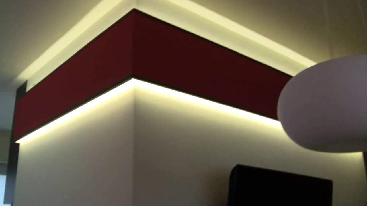 Montaż Taśm Led Oświetlenie Led Oświetlenie Led Sufitu Oświetlenie Kuchenne Oświetlenie ściany
