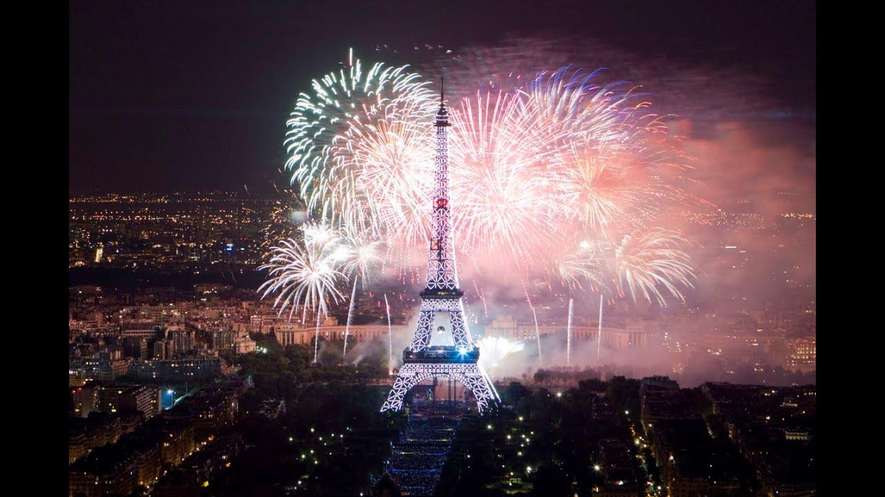 eiffel tower, paris 2015 new years fireworks show - youtube