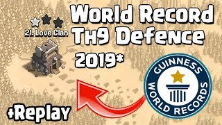 NEW TH9 WAR BASE 2019 with REPLAY Anti 2 STAR | Town Hall 9 (TH9) WAR BASE ANTI EVERYTHING  COC