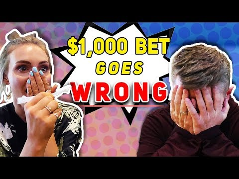$1000 Bet With My WIFE GOES BAD! 👶🏼 💵 | Ellie And Jared