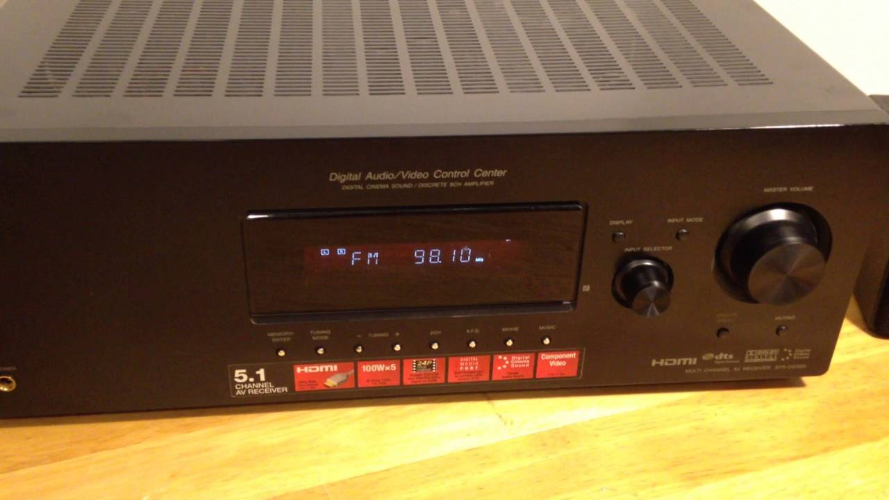 sony digital audio video control center sony str dg520 youtube rh youtube com sony str dg520 manual connect ir emitter sony str-dh520 manuel
