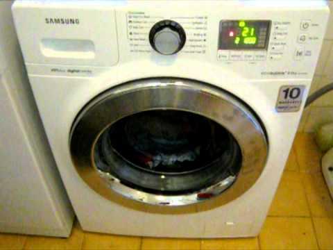 New Samsung eco bubble digital inverter washing machine 8 kg review  YouTube