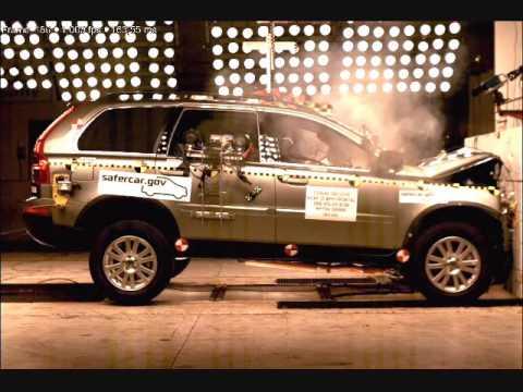 Crash Test 2008  20 Volvo XC90 Full Frontal Impact NHTSA