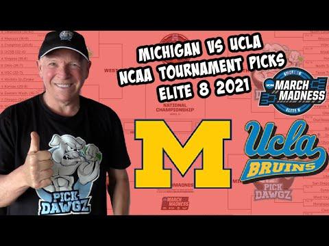 Michigan vs UCLA 3/30/21 Free College Basketball Pick and Prediction NCAA Tournament  Elite 8