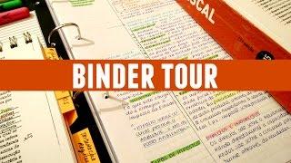 Binder Tour / Leaf Through    College Binder Organization