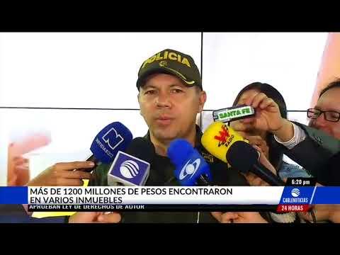 Más de $1.200 millones fueron encontrados en varios inmuebles en Bogotá