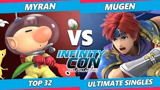 Infinity Con 2021 Top 32 - Myran (Olimar) Vs. Mugen (Roy) SSBU Ultimate Tournament