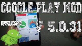 Google Play V5.0.31 MOD  [Estilo Android L] | Sin Verificación De Licencias