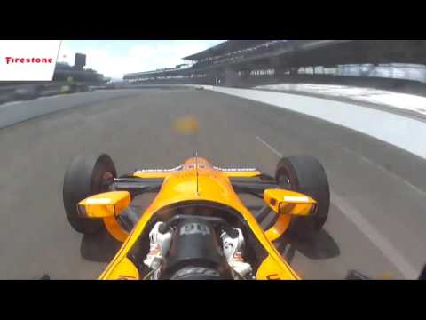 Fernando Alonso Onboard Double Overtake Indy 500