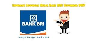 Informasi Lowongan Kerja Bank BRI September 2017