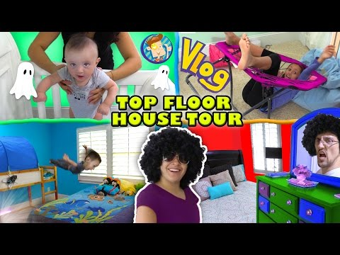 HOUSE TOUR 1.0: The Top Floor w/ Lexi, Shawn, Chase, Mom & Dad Rooms (FUNnel Vision Vlog) thumbnail