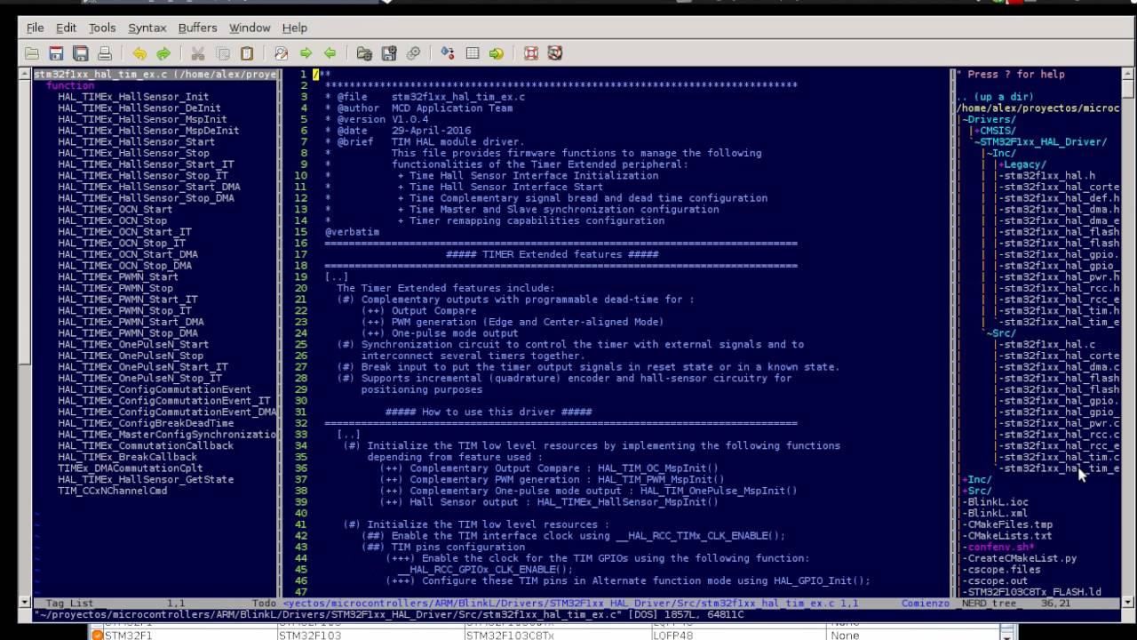 stm32cubeMx+VIM+Ubuntu