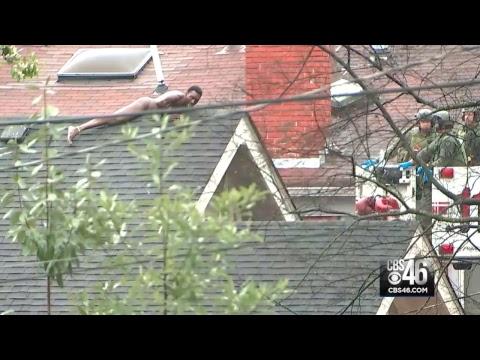 Otis - Naked Man On Midtown Atlanta Roof In SWAT Standoff For 9 Hours