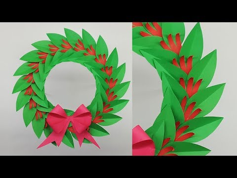 DIY Paper Wreath for Christmas Decorations | How to Make Christmas Wreath