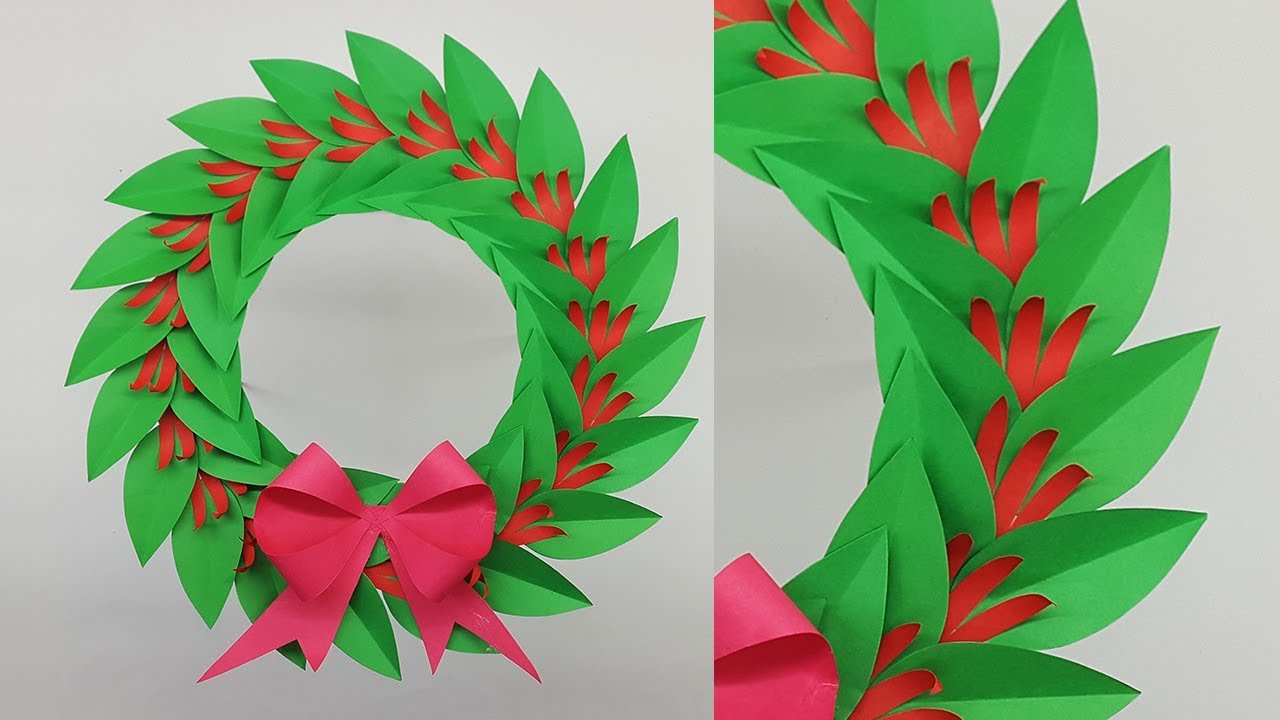 Diy Paper Wreath For Christmas Decorations How To Make