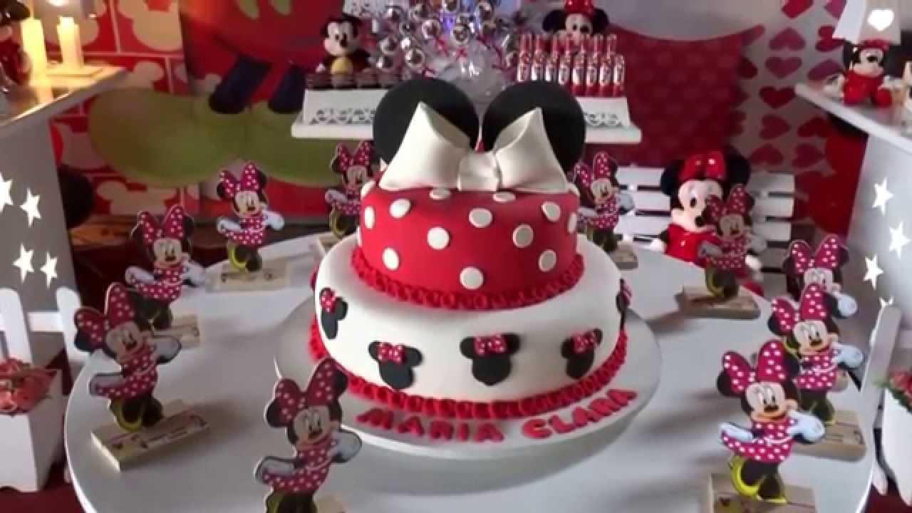 Tema da Minnie Mouse para decoraç u00e3o de festa de aniversário infantil YouTube -> Decoração De Zebra Para Aniversario