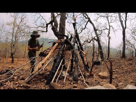 เอาชีวิตรอด 3 วัน 2 คืน  EP.6  สร้างที่พัก หาอาหารในป่าโหด...!!  [โจโฉ]