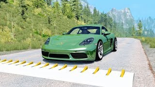 Spike Strip High Speed Crashes #37 – BeamNG Drive