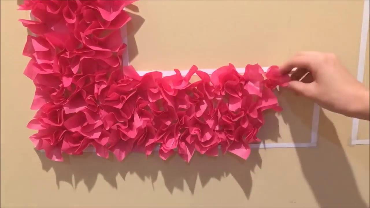Diy Room Decor Tissue Paper Heart Wall Art