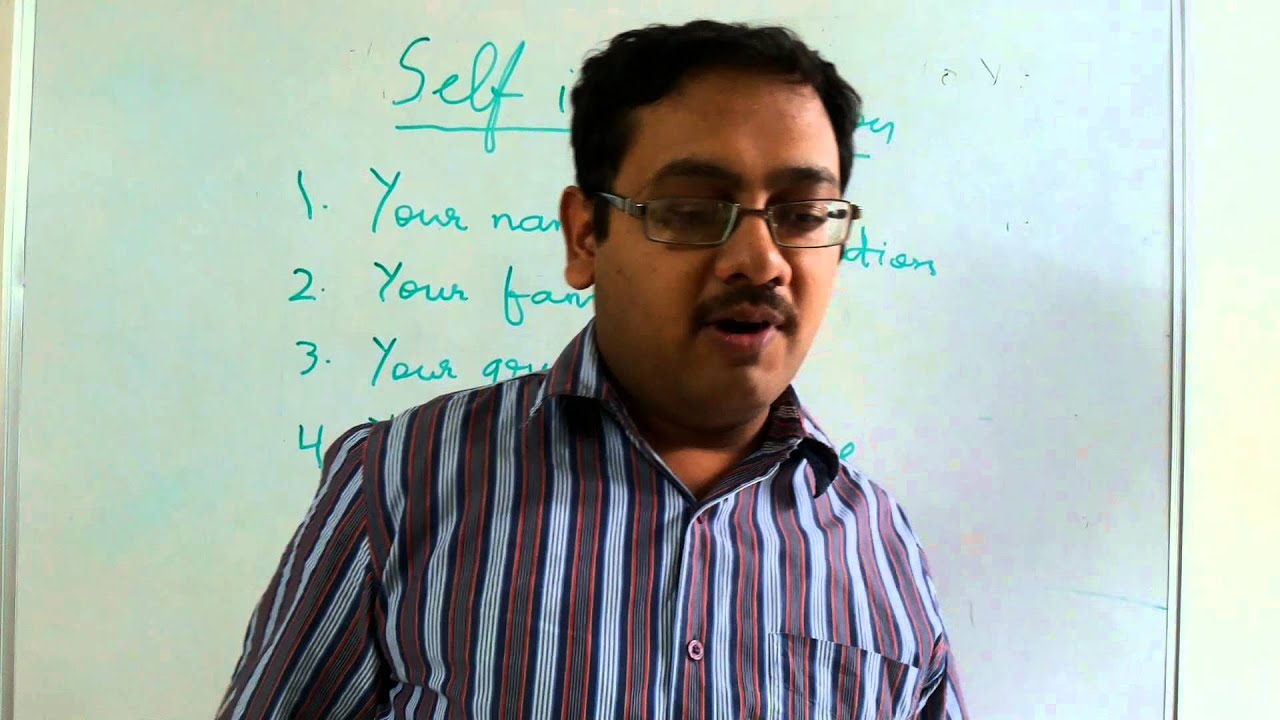 how to give self introduction