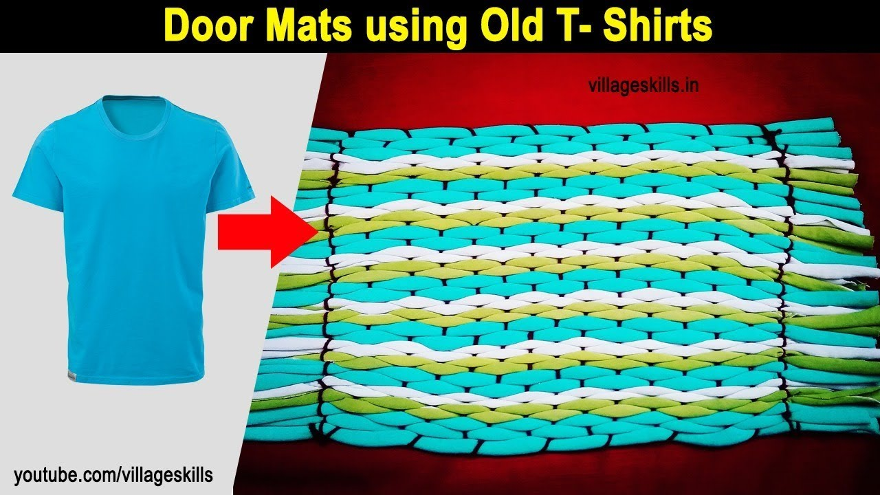 How To Make Door Mat Using With Old T Shirts Diy Old