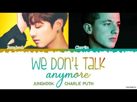 Jungkook & Charlie Puth - 'WE DON'T TALK ANYMORE' Live Lyrics (MBCPLUS X genie music AWARDS)