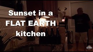 Sunset in a Flat Earth kitchen.  (Re Upload)