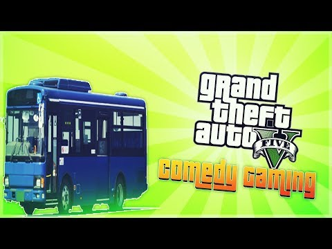 GTA 5 - Bus Prank - Crazy Cops - Angry Citizens - Comedy Gaming