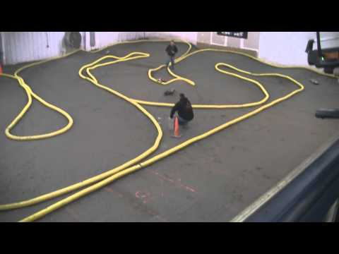 "Raceworld Raceway 4x4 SC action aka ""short bus class"" Indoor offroad track"